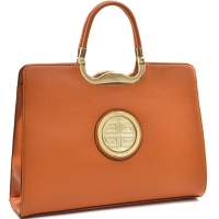 Dasein® Rolled Handle Emblem Briefcase with Removable Shoulder Strap
